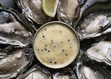 Huîtres et beurre au caviar Sturia
