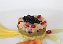 Tartare de St Jacques, caviar Sturia Prestige