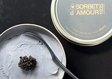 Crème glacée au caviar Sturia par Ô Sorbet d'Amour