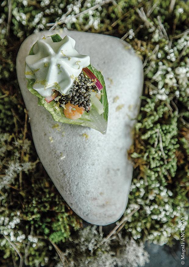 La bouchée au caviar Sturia Jasmin - Dan Bessoudo et Anne Limbour par Magali Ancenay